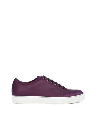 LANVIN DBB1 MATTE CALFSKIN LEATHER SNEAKER Sneakers U f
