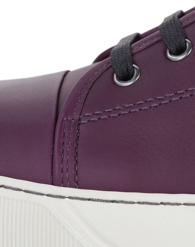 LANVIN DBB1 MATTE CALFSKIN LEATHER SNEAKER Sneakers U b