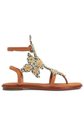 TORY BURCH Rope and leather sandals