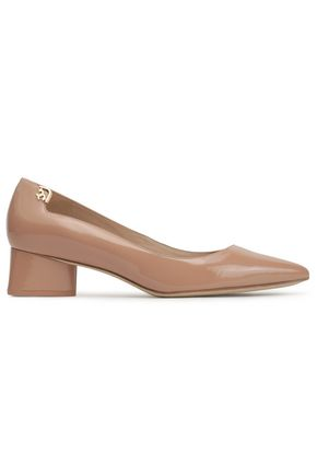 TORY BURCH Patent-leather point-toe pumps