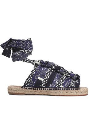 CHLOÉ Knotted printed canvas espadrille sandals