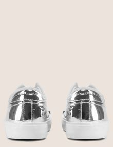 ARMANI EXCHANGE HIGH SHINE METALLIC SNEAKERS Sneaker Woman d