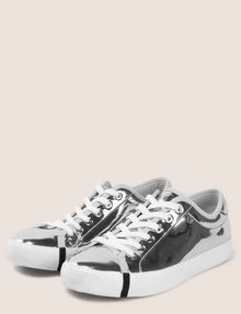 ARMANI EXCHANGE HIGH SHINE METALLIC SNEAKERS Sneaker Woman r