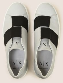 ARMANI EXCHANGE DOUBLE ELASTIC SLIP-ON SNEAKERS Sneakers Man e