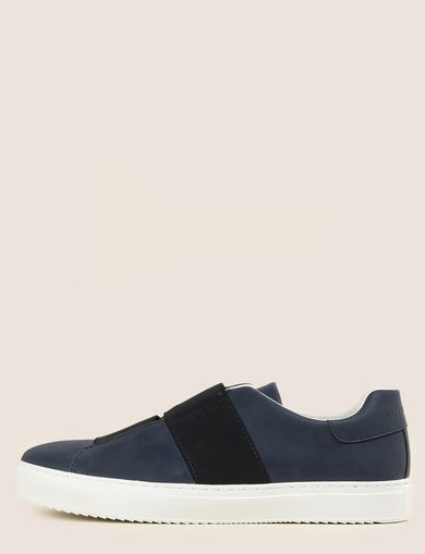 DOUBLE ELASTIC SLIP-ON SNEAKER