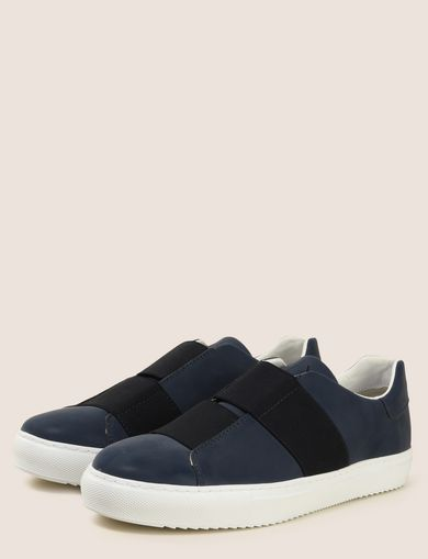 DOUBLE ELASTIC SLIP-ON SNEAKERS