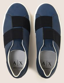 ARMANI EXCHANGE SLIP-ON SNEAKER MIT GUMMISTREIFEN Sneakers Herren e