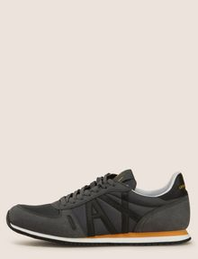 ARMANI EXCHANGE RETRO LOW-TOP LOGO SNEAKERS Sneakers Man f