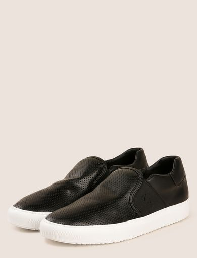 PERFORATED SLIP-ON LOGO SNEAKER