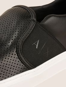 ARMANI EXCHANGE PERFORATED SLIP-ON LOGO SNEAKERS SLIP-ON Man a