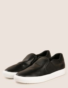 ARMANI EXCHANGE PERFORATED SLIP-ON LOGO SNEAKERS SLIP-ON Man r