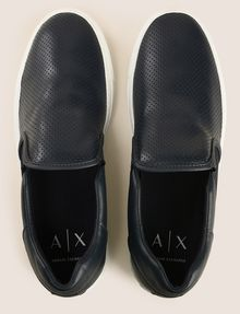 ARMANI EXCHANGE PERFORATED SLIP-ON LOGO SNEAKERS SLIP-ON Man e