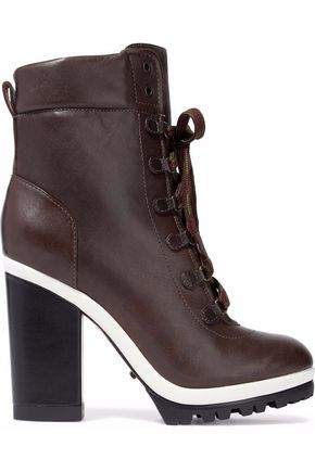SCHUTZ Lace-up leather ankle boots