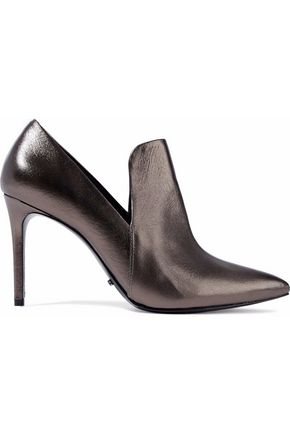 SCHUTZ Metallic leather pumps