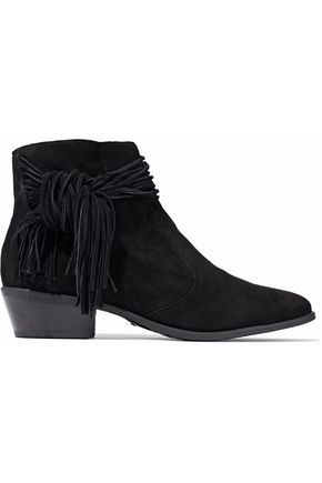 SCHUTZ Fringed suede ankle boots