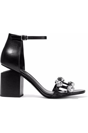 ALEXANDER WANG Abby crystal-embellished leather sandals