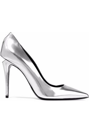 ALEXANDER WANG Metallic patent-leather pumps