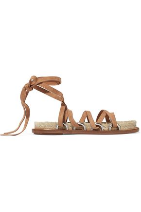 ALEXANDER WANG Adriana lace-up suede espadrille sandals