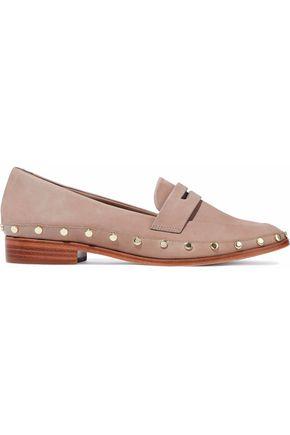 SCHUTZ Studded nubuck loafers