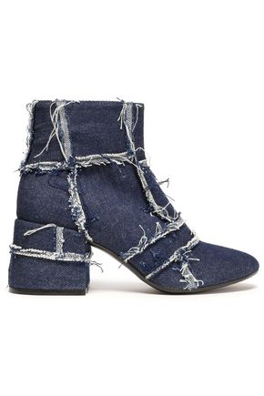 MM6 MAISON MARGIELA Frayed denim ankle boots