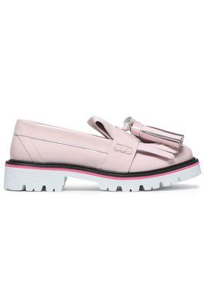 MSGM Tasseled fringed leather loafers