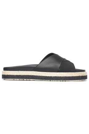 MSGM Coated stretch-knit slides