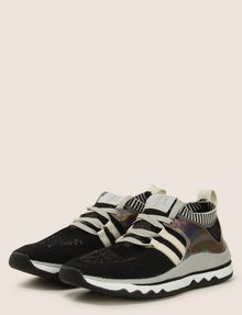 ARMANI EXCHANGE MIRRORED SOCK-KNIT LOW-TOP SNEAKERS Sneakers [*** pickupInStoreShipping_info ***] r