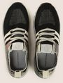 ARMANI EXCHANGE MIRRORED SOCK-KNIT LOW-TOP SNEAKERS Sneakers [*** pickupInStoreShipping_info ***] e