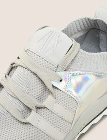 ARMANI EXCHANGE MIRRORED SOCK-KNIT LOW-TOP SNEAKERS Sneakers [*** pickupInStoreShipping_info ***] a