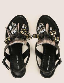ARMANI EXCHANGE METALLIC TASSEL SANDAL Shoe Woman e