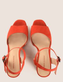 ARMANI EXCHANGE FAUX-SUEDE PLATFORM SANDALS Pumps Woman e