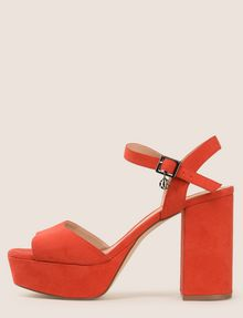 ARMANI EXCHANGE FAUX-SUEDE PLATFORM SANDALS Pumps Woman f