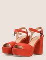 ARMANI EXCHANGE FAUX-SUEDE PLATFORM SANDALS Pumps Woman r