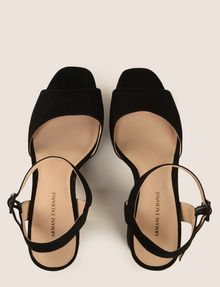 ARMANI EXCHANGE FAUX-SUEDE PLATFORM SANDALS Pumps Woman a