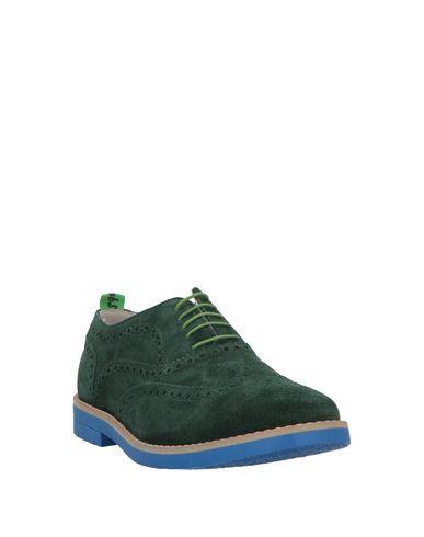 Фото 2 - Обувь на шнурках зеленого цвета
