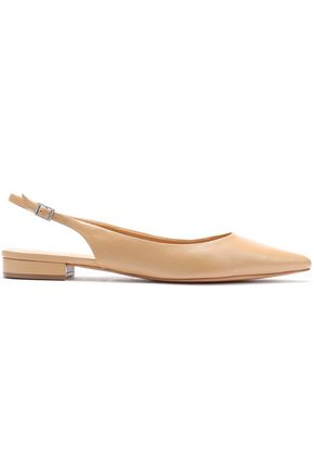 SCHUTZ Leather slingback point-toe flats