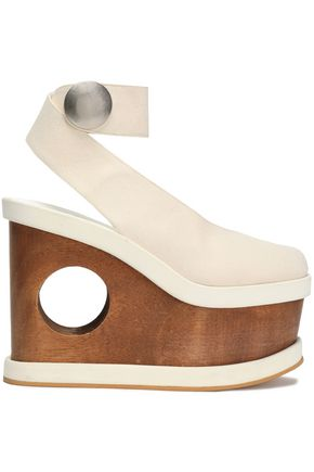 STELLA McCARTNEY Canvas platform sandals