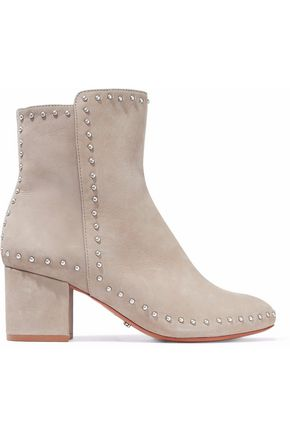 SCHUTZ Studded suede ankle boots