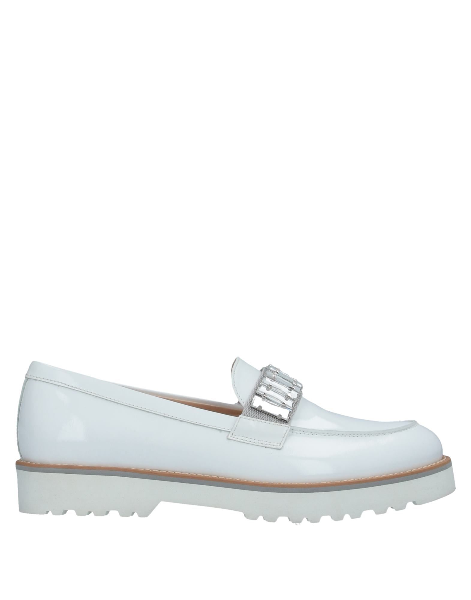 HOGAN Loafers. leather, varnished effect, rhinestones, solid color, round toeline, elasticized gores, square heel, leather lining, rubber cleated sole, contains non-textile parts of animal origin. Soft Leather
