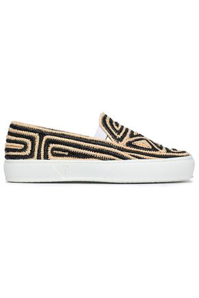 ROBERT CLERGERIE Woven raffia sneakers
