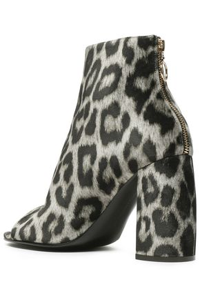 STELLA McCARTNEY Leopard-print faux leather ankle boots