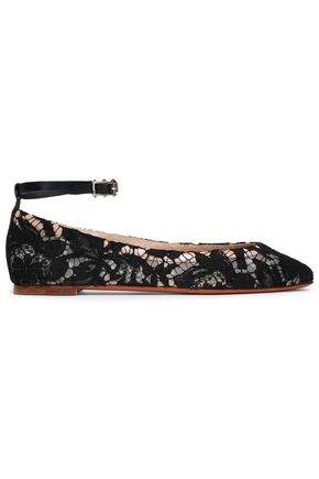 VALENTINO Corded lace ballet flats