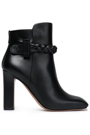 VALENTINO GARAVANI Braided leather ankle boots