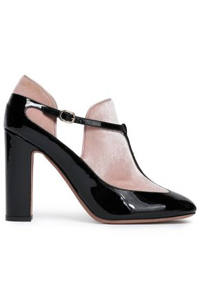 VALENTINO GARAVANI Velvet and patent-leather pumps