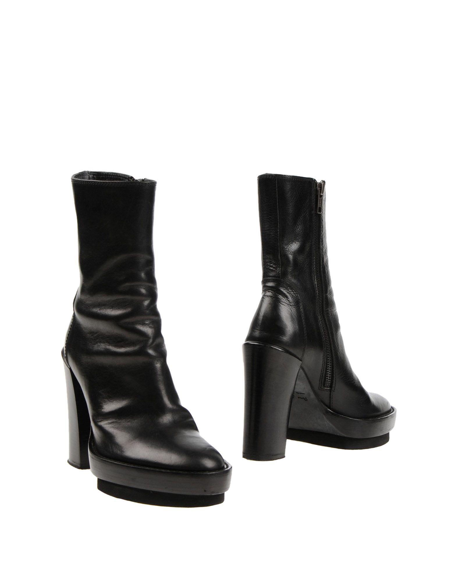 ANN DEMEULEMEESTER Полусапоги и высокие ботинки накидка ann demeulemeester накидка