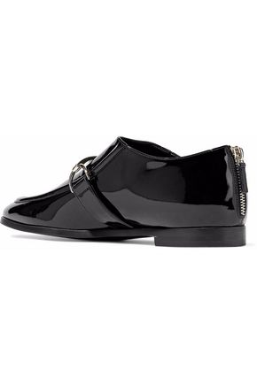 STELLA McCARTNEY Embellished faux patent-leather loafers