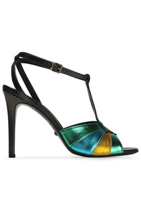 JUST CAVALLI Metallic leather sandals