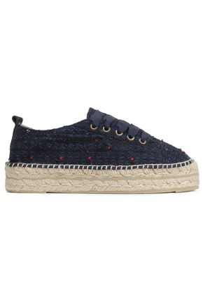 MANEBÍ Lace-up bouclé espadrilles