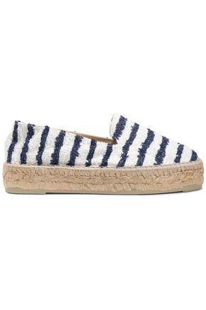 MANEBÍ Striped bouclé-tweed espadrilles