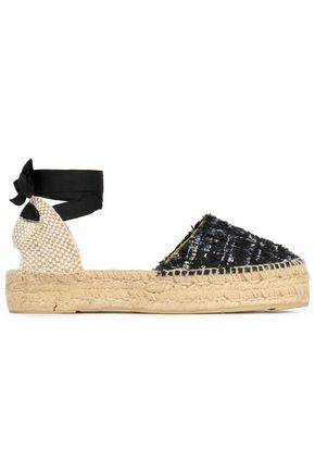 MANEBÍ Tweed and piqué espadrilles